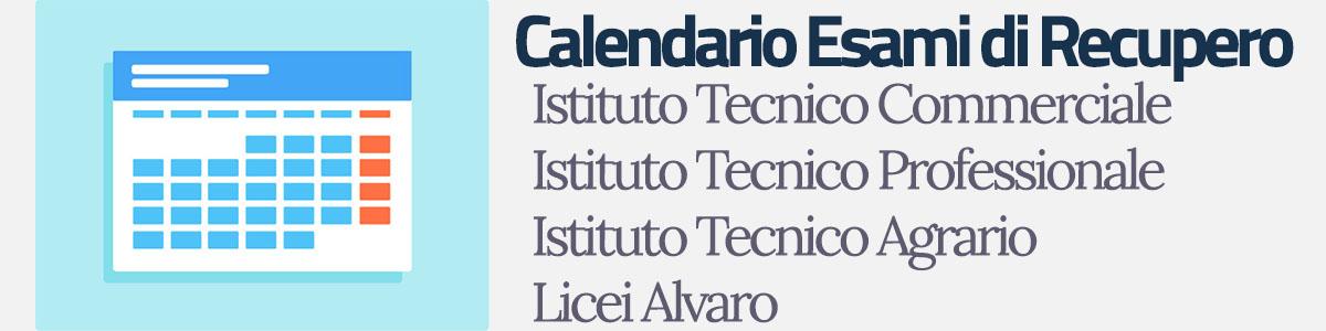 Calendario Esami di Recupero a.s. 2018/2019