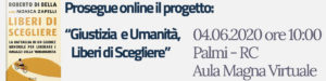 Liberi di Scegliere – 04.06.2020 ore 10:00 – Aula Magna Virtuale